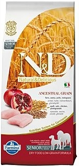 N&D LG DOG Senior M/L Chicken&Pomegranate 12kg